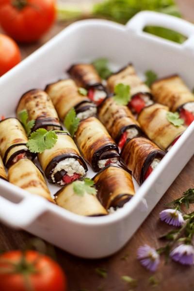 """Eggplant rolls (""""tongues"""")"""
