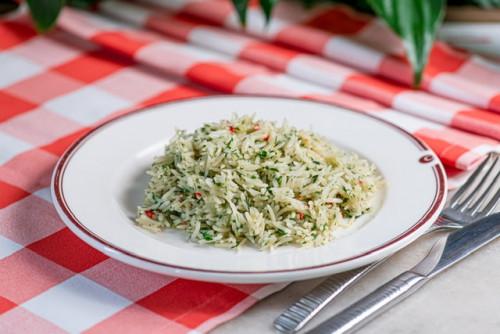 Рис с острой зеленью