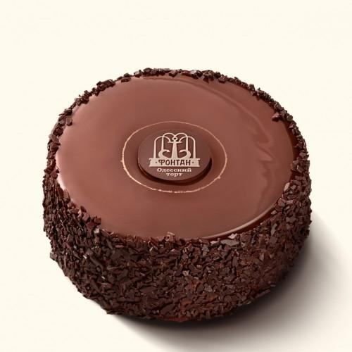 Торт Фонтан с черным шоколадом