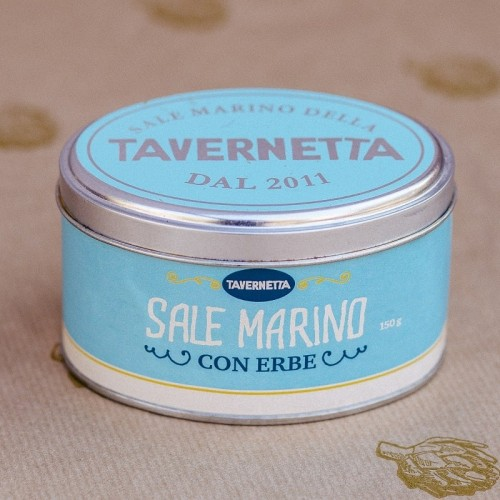 Белая морская соль с травами и специями