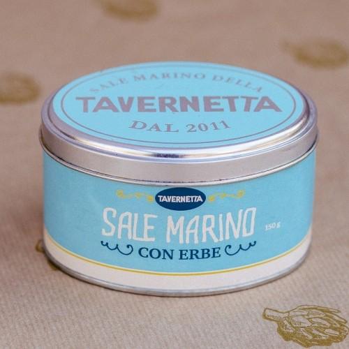 Jar with white sea salt