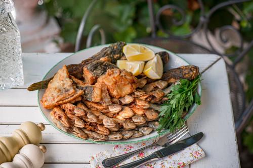 Ассорти из черноморской рыбы