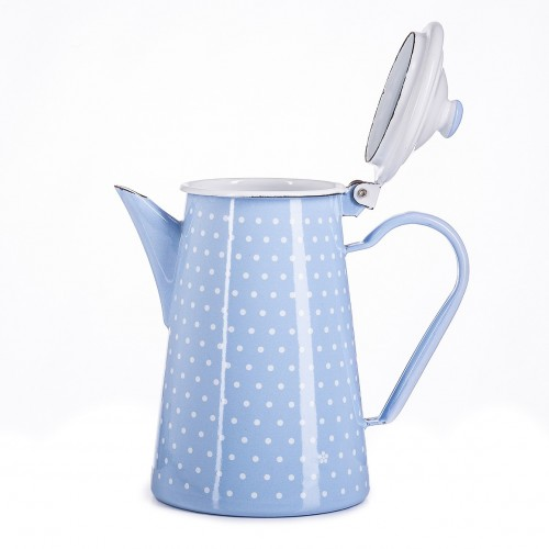 Enameled coffee pot