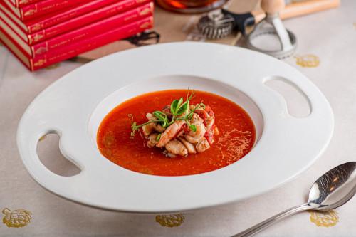 Тосканский томатный суп с морепродуктами