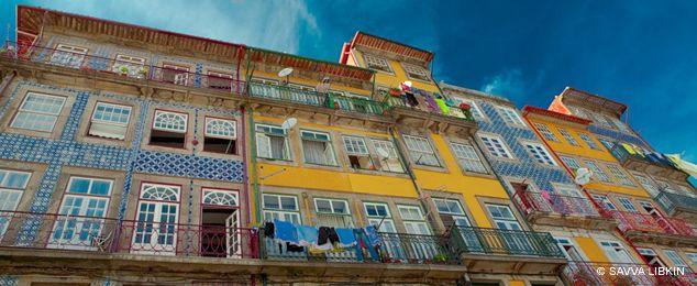 Несколько фотографий фасадов из Португалии